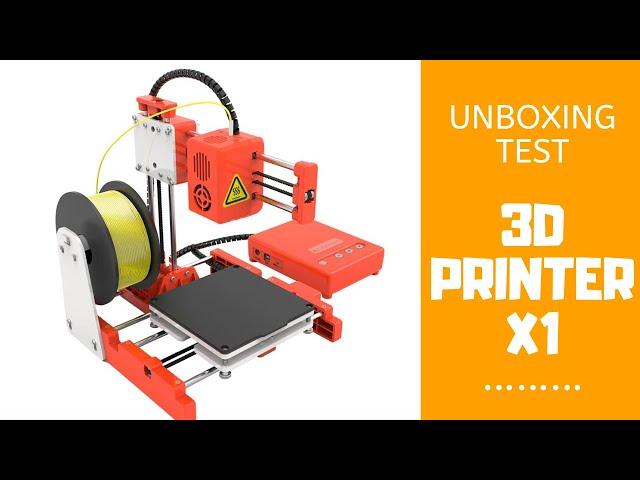 L'IMPRIMANTE 3D PORTABLE X1 à 100€  - Unboxing test et mise en route Easy Threed 3D Printer