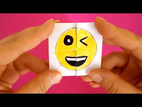 Emoji Diy Paper Magic Card - FACE CHANGER TUTORİAL