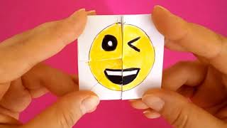 Emoji Diy Paper Magic Card - FACE CHANGER TUTORİAL