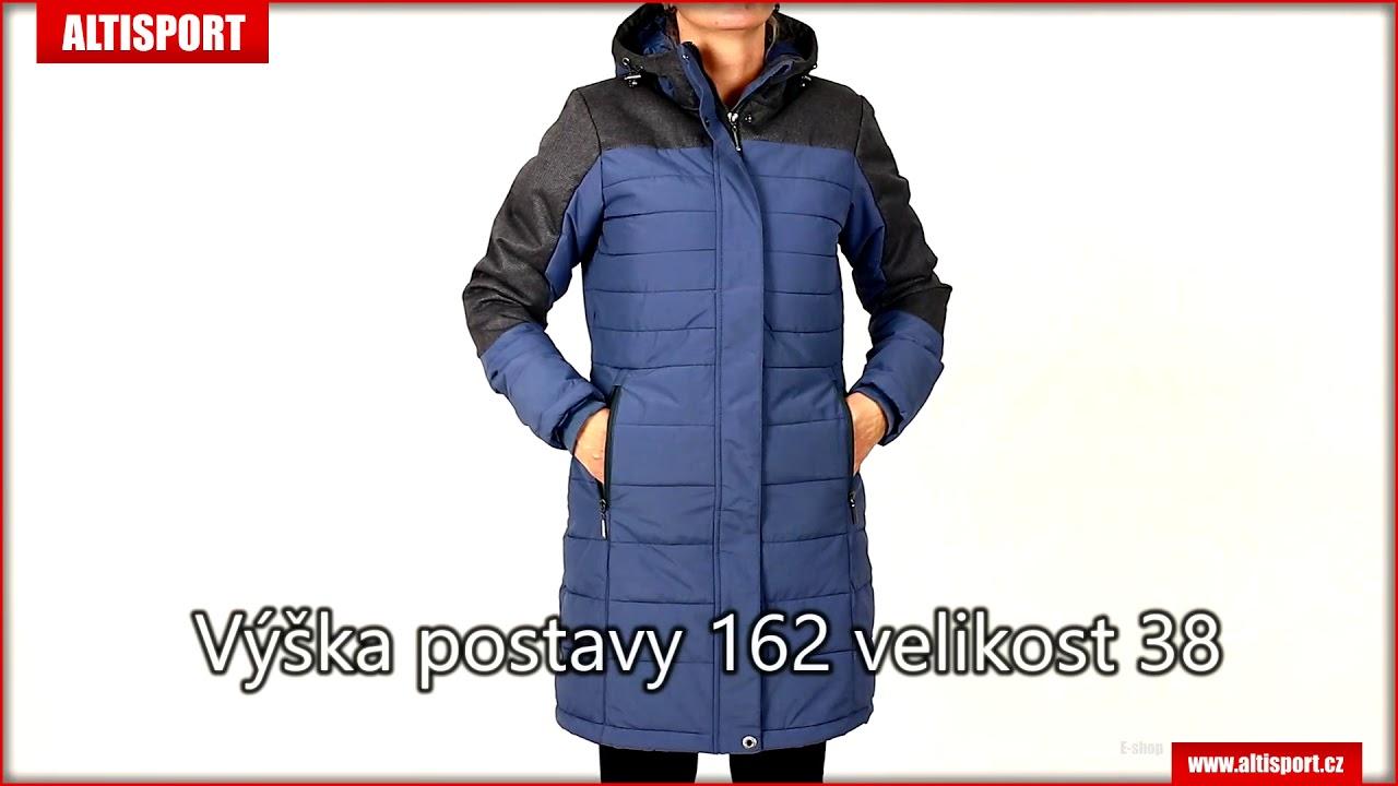 dámský zimní kabát alpine pro tessa 2 lctm061 modrá - YouTube 02f616c734f