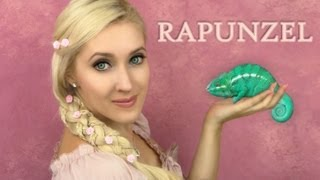 Rapunzel hair and makeup - 5 strand braid  tutorial | Tangled, If Disney Princesses were Real