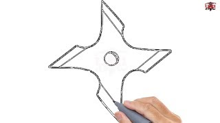 How to Draw a Ninja Star Easy Step By Step Drawing Tutorials for Kids – UCIDraw