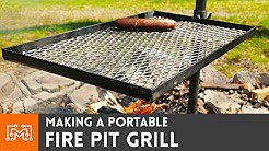 Making a Portable Fire Pit Grill