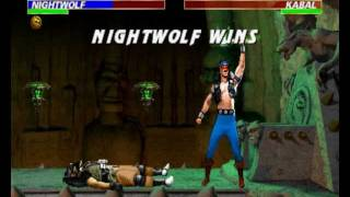 Mortal Kombat 3 - Nightwolf playthrough