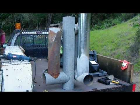 Rocket Stove Hot Tub Pt 3 Test Firing Youtube