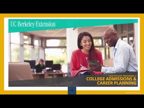 Certificate Program in College Admissions and Career Planning Online Information Session