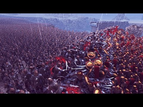 300 СПАРТАНЦЕВ ПРОТИВ ГИГАНТСКОЙ АРМИИ ИЗ 10.000 ПЕРСОВ! - Ultimate Epic Battle Simulator (UEBS)
