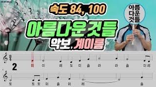 아름다운 것들 악보 리코더 연주 속도(84 100)