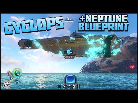 Building the Cyclops, NEPTUNE Blueprints! Subnautica Gameplay E8 | Z1 Gaming