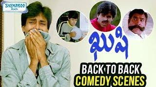 Kushi Telugu Movie   Back to Back Comedy Scenes   Pawan Kalyan   Bhoomika Chawla   Shemaroo Telugu