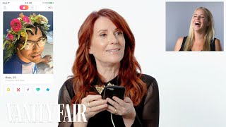 Megan Mullally Hijacks A Stranger's Tinder | Vanity Fair thumbnail