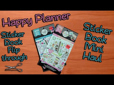 Happy Planner Sticker Book Flip Through Socialite and Watercolor