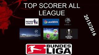 Top Scorer all league (ucl , europe league , la liga , serie a , epl , bundes liga , liga one )