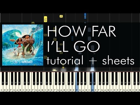 Alessia Cara - How Far I'll Go - Piano Tutorial -...