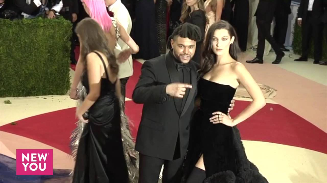 Bella Hadid With Boyfriend The Weeknd At 2016 Met Gala Red Carpet