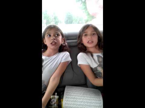 Twins singing alphabet backwards