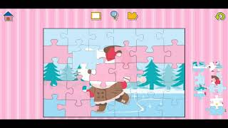 Hello Kitty Ski Fun Jigsaw Puzzle Video For Kids Apps Gameplay