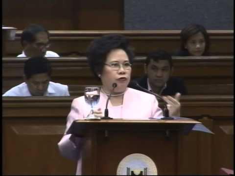 Sen. Santiago interpellating Sen. Poe on the Freedom on Information Bill