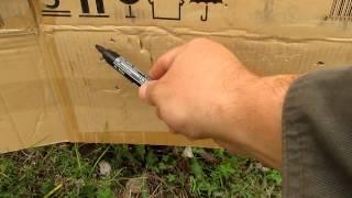 тест патронов с контейнером и без