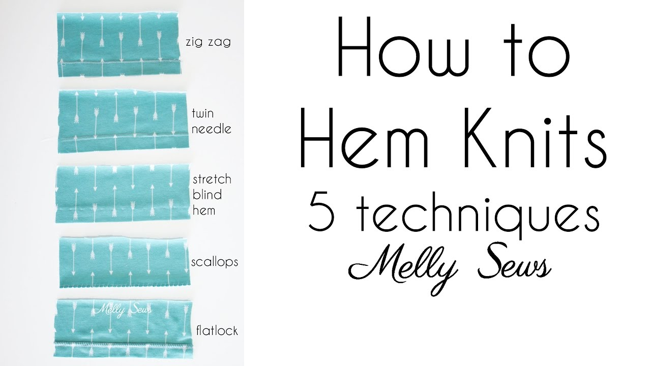 How to Sew a Stretch Hem - Hemming Knits