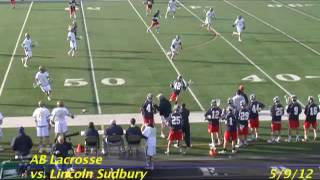 Acton Boxborough Varsity Lacrosse vs Lincoln Sudbury 5/9/12