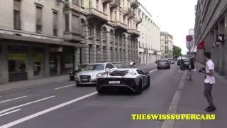 Capristo Aventador SV goes crazy in the city!!!