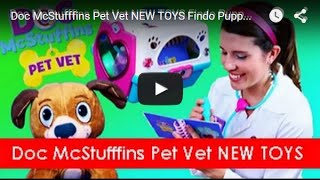 Doc McStufffins Pet Vet NEW TOYS Findo Puppy Dog Carrier, Book of Boo Boos & Dr Sandra McStuffins