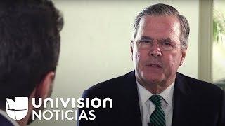 Jeb Bush cree que EEUU debe dejar de aceptar a los hermanos y padres de inmigrantes