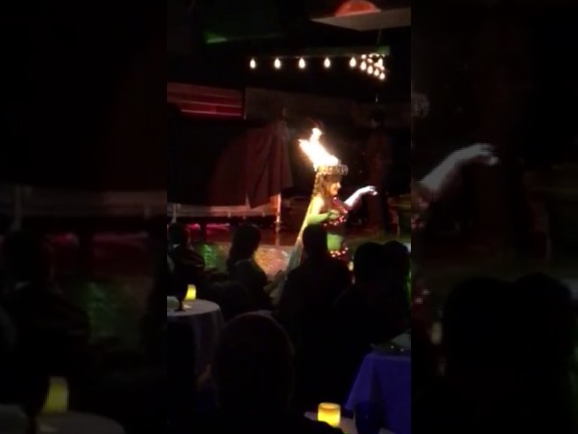 Feyrouz Bellydance with Fire Tray