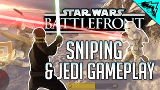 Star Wars Battlefront Sniping & Jedi Gameplay - Supremecy, Hero Hunt PC Gameplay