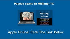 Payday Loans Midland, TX | Online Cash Advance