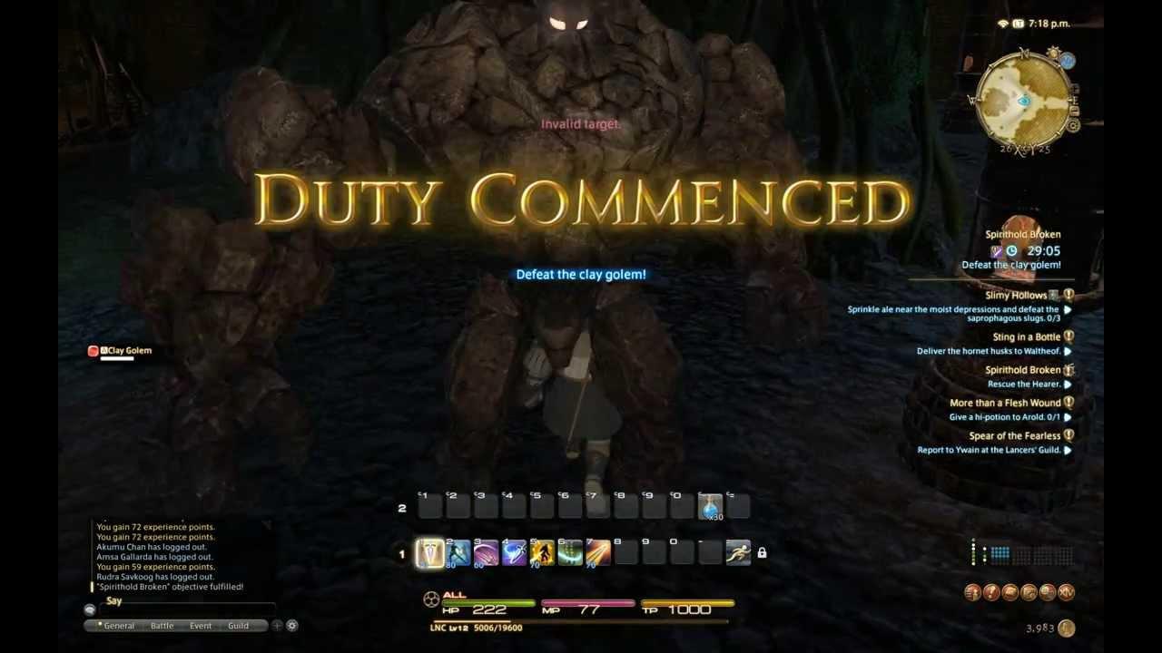Final Fantasy XIV A Realm Reborn Roegadyn Lancer Gameplay #1