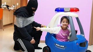 엄마가 아니네!! 서은이와 엄마의 경찰 놀이 경찰차 영웅 대결 겨울왕국 Police Patrol Power Wheel