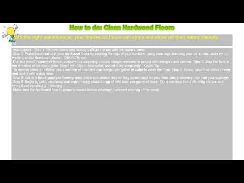 How to do: Clean Hardwood Floors