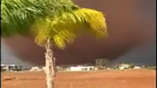 شاهد: إعصار قوي يجتاح قبرص