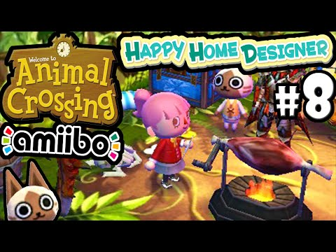 Animal Crossing Happy Home Designer Gameplay Walkthrough LIVE Stream PART 8 (Felyne House) 3DS