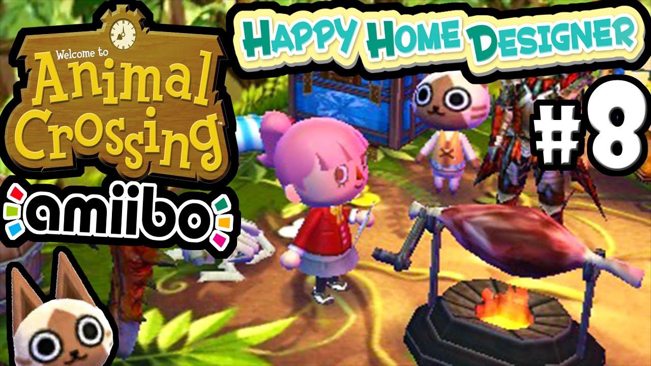 Animal Crossing Happy Home Designer Gameplay Walkthrough Live Stream Part 8 Felyne House 3ds