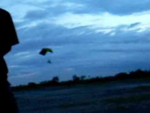 mini paramotor Test touch and go