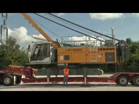 Liebherr - Self assembly system for the LR 1250 crawler crane
