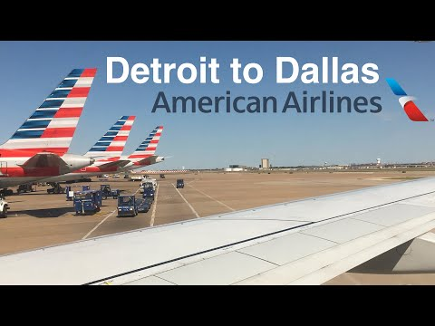 Trip Report: American Airlines B737-800 Takeoff From Detroit. DTW-DFW.