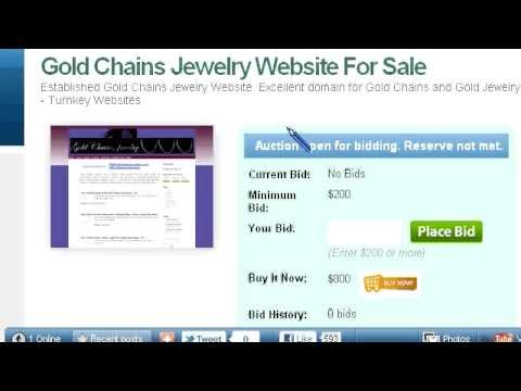 Gold Chains Jewelry Website For Sale