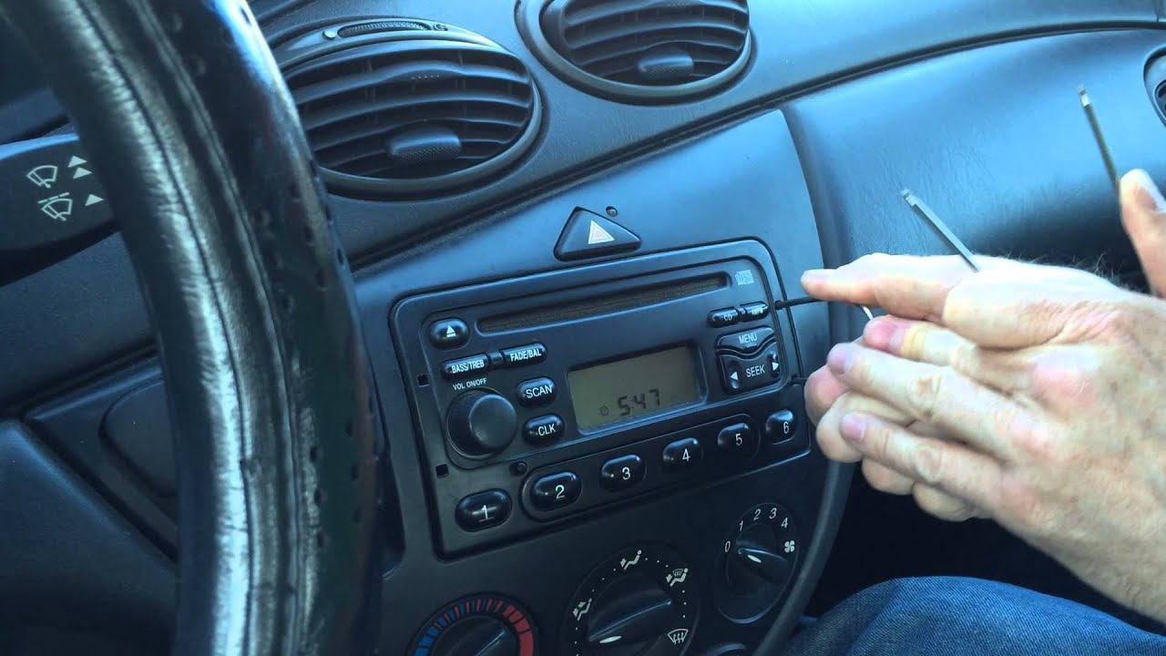 How To Remove A Ford Car Stereo Youtube