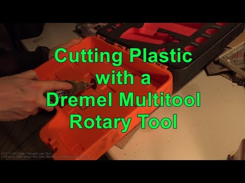 Cutting Plastic with a Dremel Multitool Rotary Tool