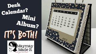 Desk Calendar That Turns Into A Mini Album