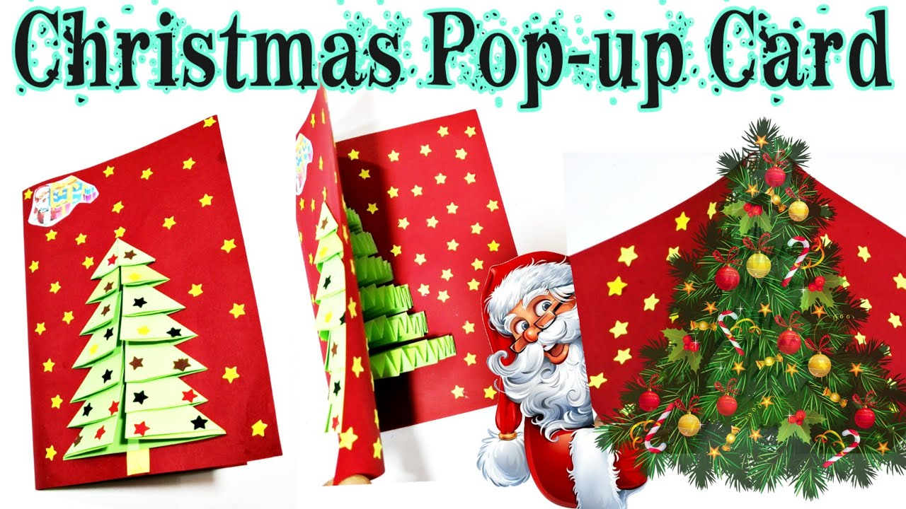 Christmas Card Christmas Pop Up Card Banane Ka Tarika 3d Card Diy Tutorial Youtube