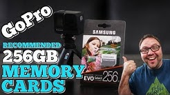 256GB Memory Cards for GoPro Hero 8 Black & Max - GoPro Recommended