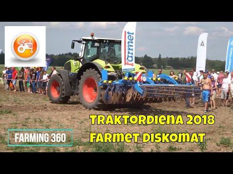 Traktordiena 2018   Claas Axion 800 &  Farmet Diskomat 3 N