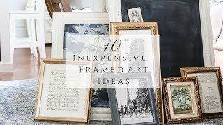 10 Inexpensive Framed Art Ideas