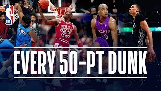 Every 50-Point Dunk In NBA Dunk Contest History (1984-2019)! Video