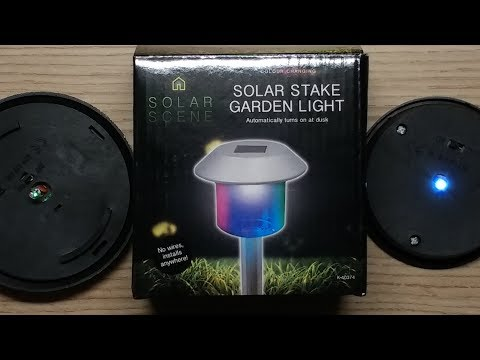 How to make RGB LEDs work in ordinary solar lights.